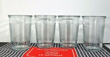 Lot of 4 Anchor Hocking Heavy Ribbed Drinking Glasses 16 Ounce