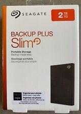 Seagate 2TB Backup Plus Slim Portable External Hard Drive USB 3.0 STHN2000400