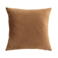 45cm Solid Colour Velvet Cushion Cover Home Decor Throw Pillow Case Brown