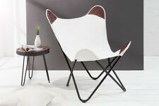 papillon fauteuil chaise Texas Blanc Toile Sofa Lounge salle à manger