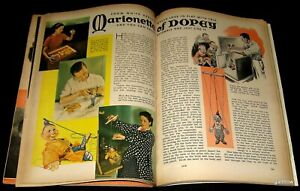 DOPEY 1938 MARIONETTE-MAKING PICTORIAL SNOW WHITE AND THE SEVEN DWARFS * DISNEY