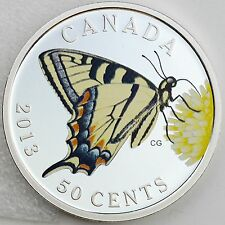 2013 Canadian Tiger Swallowtail, Butterflies of Canada Silver Plated Color Proof