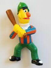 ~1980s~Bert as Baseball Batter PVC Action Figure~Applause~Sesame Street~Vintage~