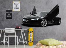 3D Black Car Door A120 Car Wallpaper Mural Poster Transport Wall Stickers Zoe