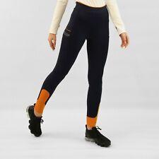 RIDING TIGHTS/LEGGINGS Size 8 navy/orange. Mid waist