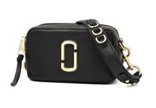 BNWT Marc Jacobs Softshot 21 Camera Bag Crossbody Leather Black Handbag