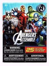 Avengers assemble Hulk Ironman Captain America Thor temporary tattoos new