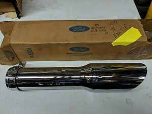 NOS 1971 Mustang Mach 1 OEM Chrome Exhaust Tip Extension Pipe