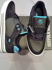 SUPRA VAIDER LOW MEN BLACK TURQUOISE LEATHER US 12 UK 11 EU 46 S36044 NEW IN BOX