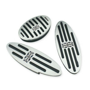 For Mini Cooper S ONE F54 F55 F56 F57 F60 Auto Aluminum Footrest Pedal Cover Pad