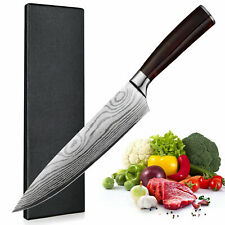 Kitchen Chef's Knife Set Stainless Steel Damascus Pattern Sharp Cleaver Gift Us