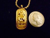 bling gold plated egyptian scarab Charm Pendant hip hop chain Necklace jewelry