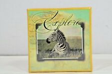 National Geographic Society 2013 Boxes 3 Nested Gift Boxes Zebra