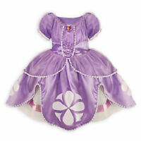 Disney Store Sophia the First Costume Dress SZ 7/8 Halloween NWT Sofia