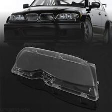 Pair Driver Headlight Headlamp Lense Clear Lens Cover For BMW E46 2001-2006