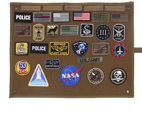 Hanging Roll-Up Morale Patch Board Coyote Brown Rothco 9010