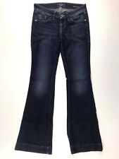 Guess Jeans Women Size 25 Los Angeles Brittney Flare Stretch Blue Denim