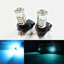 2x Ice Blue H10 9145 15w High Power Bright Car LED Bulbs 5730 15-SMD Fog light