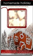 Homemade Holiday - New 3 Christmas Music CD Set With Holiday Craft Book! New!