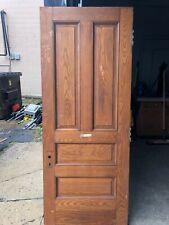 c1890 solid Heavy raised 4 panel chestnut door 80.25x 32 x 1 7/8 original finish