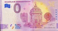 BILLET 0  EURO MAUZOLEUM ANDRASSYOV  ANNIVERSARY SLOVAQUIE    2020 NUMERO DIVERS