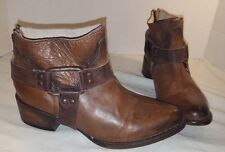 NEW FREEBIRD by STEVEN PHLOW TAN LEATHER ANKLE BOOTS WOMEN'S SIZE 7