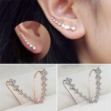 ELEGANT WOMENS SILVER/GOLD PLATED CRYSTAL RHINESTONE EARRINGS,FREE POST IN OZ