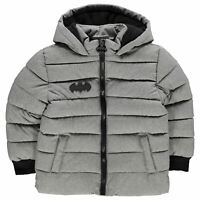 Character Kids Boys Padded Coat Infant Jacket Top Long Sleeve Lightweight Hooded