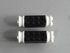 Lego Train - 2 x Black and White Wheels (gmt09)