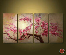 4 pieces Large canvas Modern Abstract Oil Painting Wall Art Decor no frame