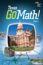 Go Math Texas Grade 7 Student Interactive Worktext 7th Volumes 1 & 2