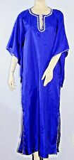 Blue Silver Costume Robe Dress Handmade Med M Medium Sequin Halloween Dance
