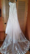 NWT Stunning Mori lee-Madline Gardner Ivory/Coco Wedding dress size 18.