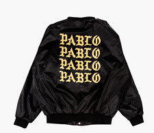 Kanye West TLOP pop up PABLO satin bomber jacket size L w/ receipt yeezy bape