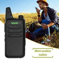 5W Portable Mini Radio Walkie-Talkie UHF VHF Dual Band Two Way Outdoor Intercom