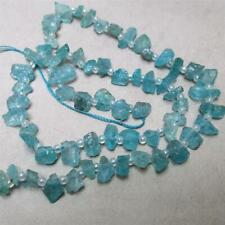 "One, 17"" strand of, pastel, AquaMarine chip nuggets, 4x8mm, but they vary"