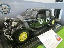 CITROËN TRACTION 11B FFI de 1944 noir au 1/18 SOLIDO 421183610 voiture miniature