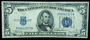 1934-C $5 Silver Certificate Crisp Uncirculated Condition