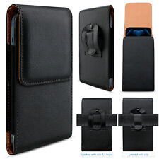 Cell Phone Holster Pouch Leather Wallet Belt Clip Loop Case For iPhone 13 12 11