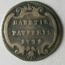 1739 VATICAN (PAPAL STATES) GROSSO - Very Rare Silver Coin - Lot #J11