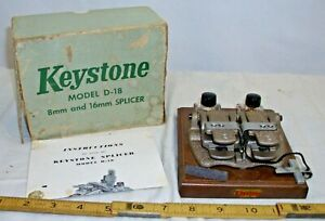 KEYSTONE 8MM TO 16MM MOVIE FILM SPLICER BOXED 1960s QUALITY BOXED