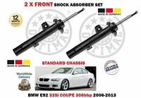 FOR BMW E92 335i COUPE 306bhp 2006-2013 NEW 2 X FRONT SHOCK ABSORBER SHOCKER SET