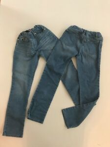 CHILDRENS PLACE 2 Pair Girls Light Wash Skinny Blue Jeans Size 10
