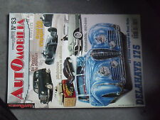 1µ? Revue Automobilia n°53 GP Espagne 1951 Delahaye 175 Renault Prairie Fangio