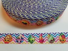 "5 Yards 7/8"" shopkins Grosgrain Ribbon Hair Bow Supplies."