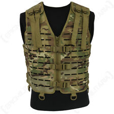 Laser Cut Tactical Vest - Multitarn Camo - MOLLE Webbing Rig Combat Airsoft Army