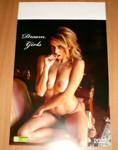XL Erotik Kalender Dream Girls 2022 Pin up Spind Neu Top Hot Büro 480 x 300 mm