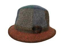 Jonathan Richard Wool Bucket Hat Patchwork Tweed Herringbone Houndstooth L 7 1/2
