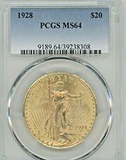 1928 SAINT-GAUDENS, DOUBLE EAGLE, GRADED MS64 BY PCGS, AGW: 0.9675oz