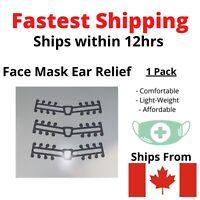 Face Mask Attachment Ear Saver Strap Clip for Comfort 3D CANADA